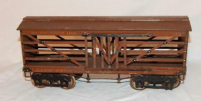 Brown IVES Standard Gauge #193 Pennsylvania Live Stock Car PRR Prewar tinplate