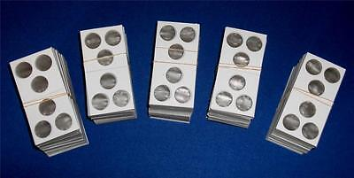 100 3 hole 2X2 Cardboard/Mylar Coin Holders Flips for Penny Cent Dime