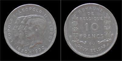 Belgium Albert I 10 frank (2 belga) 1930FR-pos B