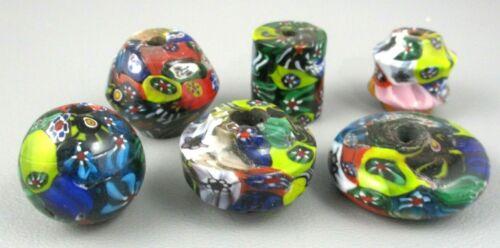 RARE Vintage Lot 30 Huge MILLEFIORI / GLASS / MURANO / VENETIAN Beads 20-30mm