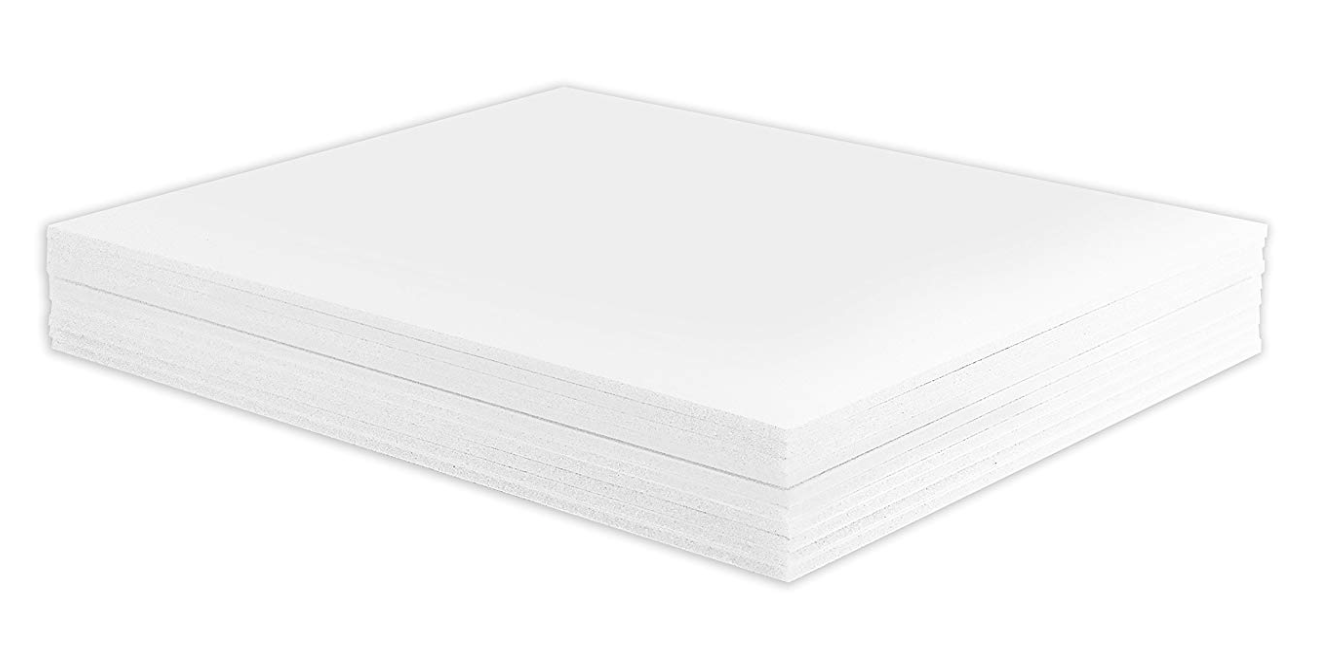 """Golden State Art, Pack of 10, 1/8"""" Thick, 5x7"""" White Foam Co"""
