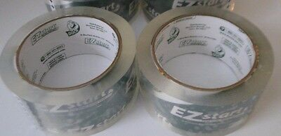 2 Pack Duck Tape Ez Start 1.88 X 109 Total Yards Packaging Shipping Clear