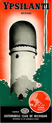 Vintage 1940? Ypsilanti, Michigan Travel Brochure from AAA of Michigan