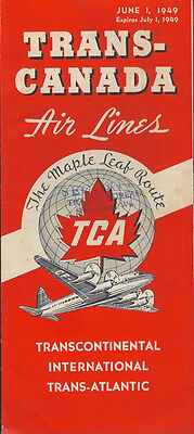 Trans Canada Air Lines System Timetable 6 1 49  3033