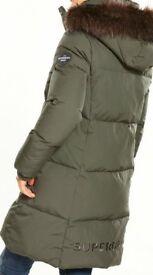 New Superdry cocoon ladies coat medium 10/12 RRP £120