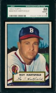 1952 Topps Baseball #264 Roy Hartsfield (Braves) SGC 88 8