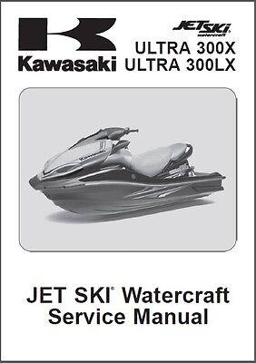 2011-2012-2013 Kawasaki Ultra 300X / 300LX Jet Ski Service Manual CD