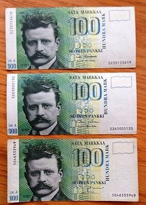 100 Markkaa Bank Note