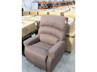 AUGUSTA Dual Motors Lift Chair Dark Brown Fabric- New in Box, Free Delivery in U