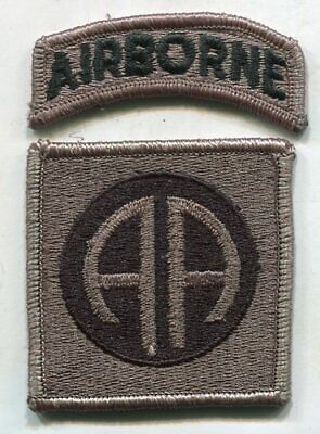 US Army 82nd Airborne ACU Patch W/Tab NO Hook Back