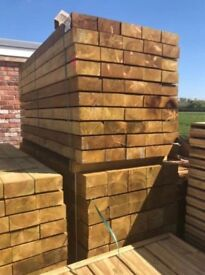 New timber garden sleepers