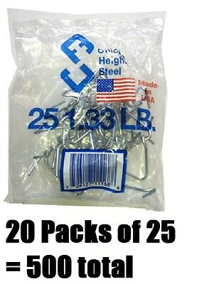 20 Ea Chicago Heights M005fast25rg025 25 Packs T-post Fence Post Clip Fastener