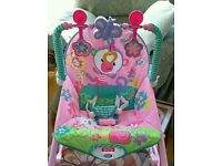 Pink Fisher Price Rainforest Infant to Toddler chair/rocker