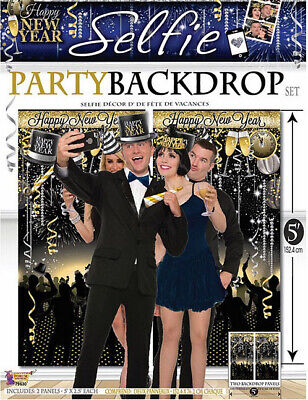 Happy New Year Eve (HAPPY NEW YEAR eve party Scene Setter wall decor Selfie Backdrop midnight)
