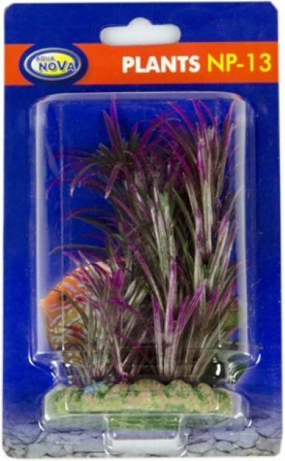 künstliche Aquarium Pflanze lila 13cm - Deko Pflanzen Wasserpflanzen Plastik TOP