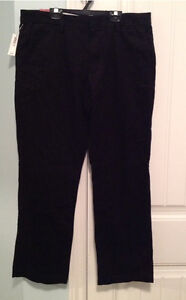 Men's black 100% cotton pants - new with tags size 34 x 30