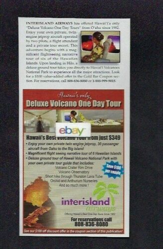 INTERISLAND AIRWAYS SHORT BROTHERS SD 360 DELUXE VOLCANO TOURS 30 PAX