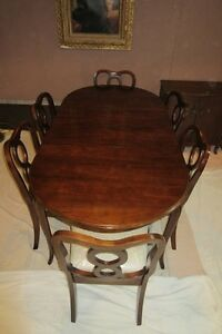 Gibbard Dining Table with Six Chairs