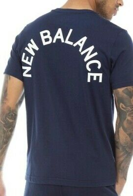 New Balance Mens Back Logo Graphic T-Shirt charcoal size uk Medium Authentic.