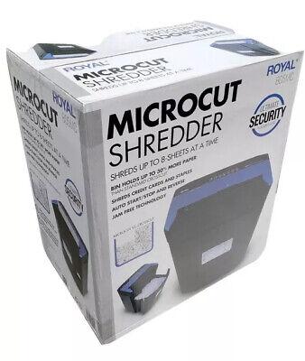 Royal Micro Cut Paper Shredder Heavy Duty 8 Sheet 805m Micro Confetti Cut