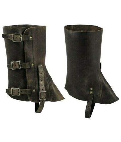 Swiss military Leather Gaiters Harley Boots Snakes Hunting Hiking