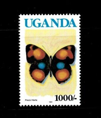 Uganda 1990 - 1000/- BUTTERFLY DEFINITIVES - Single Stamp (Scott #716)  - MNH
