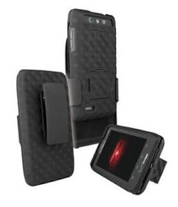 OEM Belt Clip Hard Case Shell Holster+Stand for Motorola Droid 4Xt894 Maserati