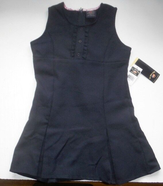 US Polo Asn School Uniform Dress Jumper Pleated Bottom Navy Blue 7 8 10 12 14 16