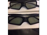 3D toshiba glasses 2 pairs NEW