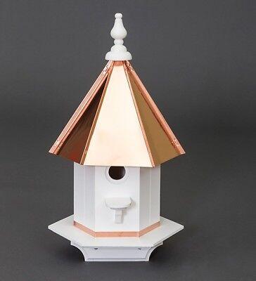 Vinyl woodpecker Birdhouse Amish handmade handcrafted copper top Large 24