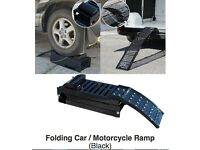 HEAVY DUTY MOTORCYCLE RAMP /CAR RAMP TRI FOLDING ONLY £49.99