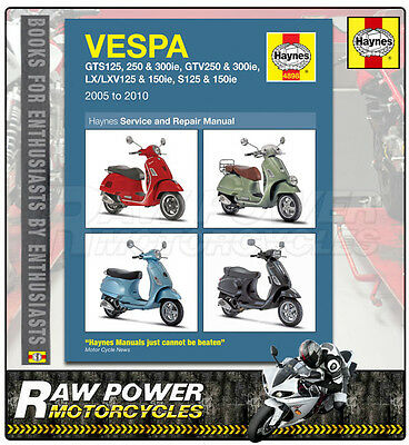 Vespa GTV300 ie 278cc 2010 Haynes Manual (4898)