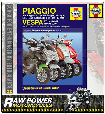 Piaggio (Vespa) NRG50 MC2 1997-2000 Haynes Manual (3492)
