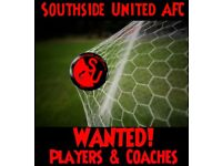 Looking for players in all positions & coaches for an adults Saturday morning team based in Glasgow.