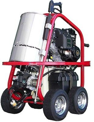Portable Hot Water Pressure Washer - 2700 Psi - 2.5 Gpm - Gas - Diesel Heated