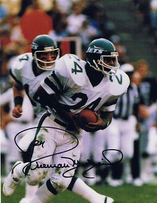 Freeman McNeil Signed Autographed 8x10 Photo - w/COA - NFL NY Jets