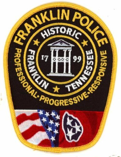 FRANKLIN POLICE TENNESSEE TN NEW COLORFUL PATCH SHERIFF