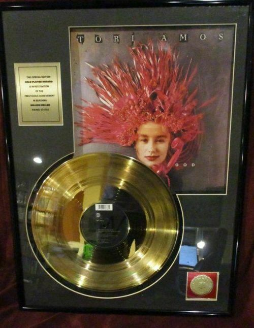 "Tori Amos - GOLD RECORD ""GOD"" - framed 18"" x 24"""