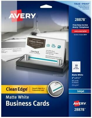 Avery Clean Edge Business Cards Matte 2 X 3-12 90 Cards 28878