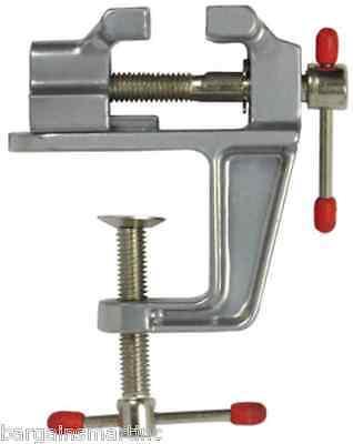 Vise Mini Universal Work Table Bench Vice 1.5 1 12 Aluminum Swivel Lock Se