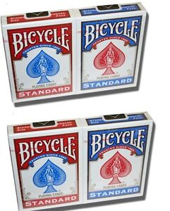 4 NEW SEALED Packs Of Bicycle Standard POKER/Playing Cards/Decks Trust SINCE1885