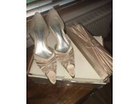 Shoes and matching clutch bag ( new and boxed)