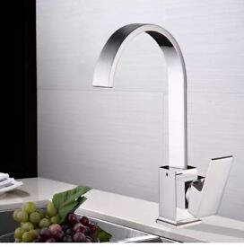 Brand new: Type: Kitchen Sink Mixer Taps Material: Solid-brass construction Finish: Chrome