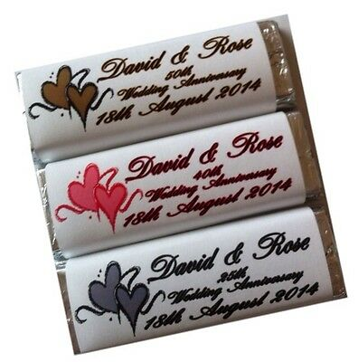 appers Choc Bars Wedding Anniversary Favours 25th 40th 50th (25th Wedding Anniversary Favors)