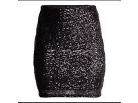 Black sequin skirt size 8