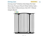 Baby stair gate - Extra tall (1m) Extra Wide (108 cm)