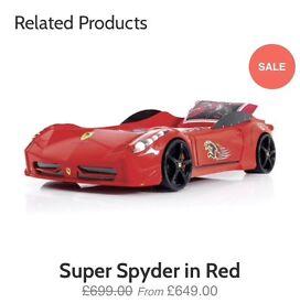 Child's Ferrari bed from house off fraser