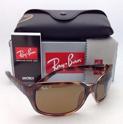 Polarized RAY-BAN Sunglasses RB 4068 642/57 60-17 Havana w/ Crystal Brown Lenses (642 57 Havana Polarized Crystal)