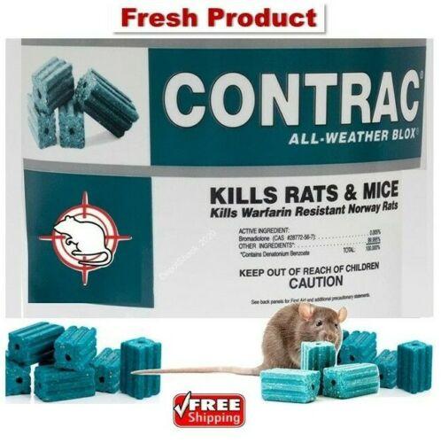 Contrac Blox Rat Mouse Mice Vole Trap Station Bait 1-50 Blocks 1 oz each