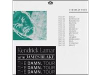1 (maybe 2) x 13thFeb London O2 SOLD OUT Kendrick Lamar: Standing Golden Circle